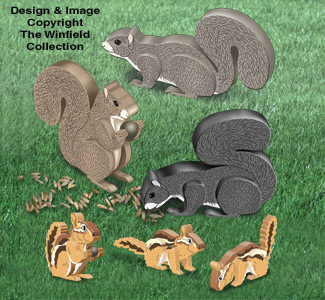3D Squirrels and 3D Chipmunks Pattern Set
