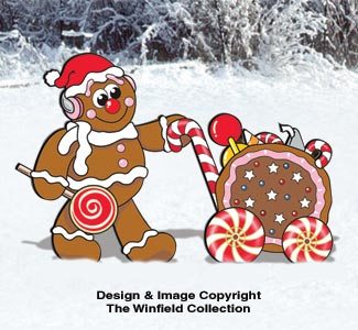 Gingerbread Candy Cart Pattern