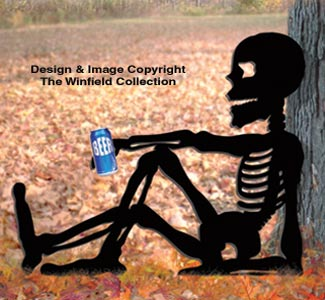 Relaxing Skeleton Woodcraft Pattern