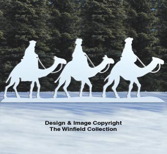 Three Kings on Camels Pattern