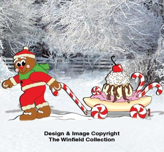 Gingerbread Dessert Wagon Pattern