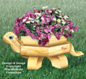 Landscape Timber Turtle Planter Pattern