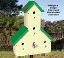 Five Room Birdhouse Pattern