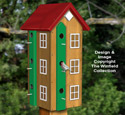 Twelve Room Birdhouse Plans