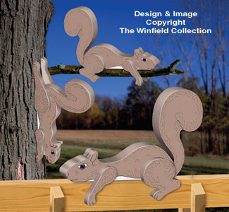 3D Squirrel Rail Sitters Pattern