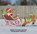 Gingerbread Sleigh and Reindeer Pattern Set