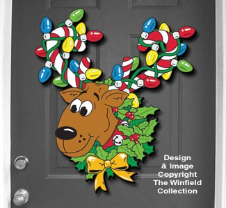 Reindeer Wreath Pattern