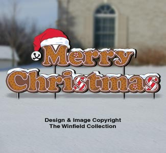 Gingerbread MERRY CHRISTMAS Pattern