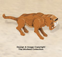 3D Saber Tooth Tiger Pattern