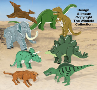3D Dinosaurs Pattern Set