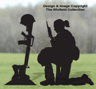 Female Fallen Soldier Pattern