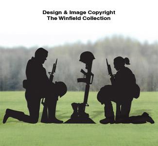 Male and Female Fallen Soldier Pattern Set