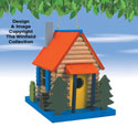 Log Cabin Bird Abode Pattern